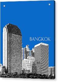 Bangkok Thailand Skyline 2 - Blue Acrylic Print by DB Artist