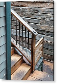 Banister Acrylic Print by Don Barnes