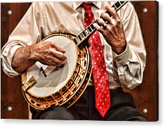 Banjo In Arms Acrylic Print by Linda Phelps