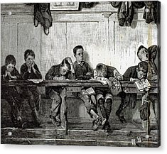 Bank Of Punished In A School Acrylic Print by Prisma Archivo