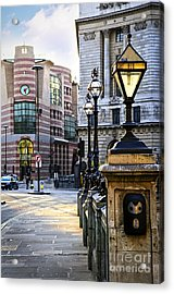 Bank Station In London Acrylic Print