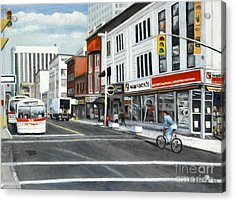 Bank Street Ottawa Acrylic Print