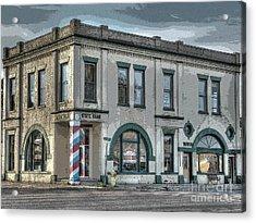 Bank To Barbershop Acrylic Print