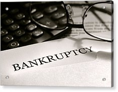 Bankruptcy Notice Letter Acrylic Print by Olivier Le Queinec