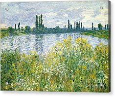 Banks Of The Seine Vetheuil Acrylic Print by Claude Monet