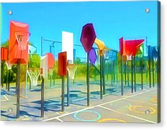 Bankshot Basketball 1 Acrylic Print by Lanjee Chee