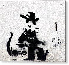 Banksy Boombox  Acrylic Print by A Rey