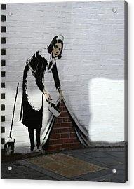 Banksy Maid Acrylic Print by A Rey