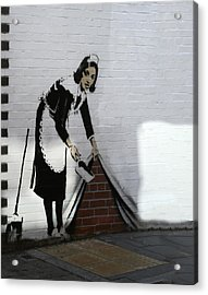 Banksy Maid Acrylic Print