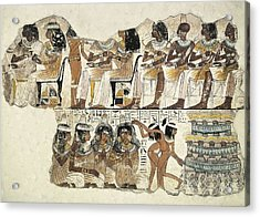 Banquet Scene. Ca. 1350 Bc. 18th Acrylic Print by Everett