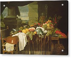 Banquet Still Life Oil On Canvas Acrylic Print