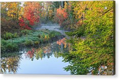 Bantam River Autumn Acrylic Print by Bill Wakeley
