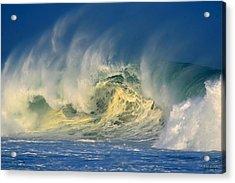 Acrylic Print featuring the photograph Banzai Pipeline Crashing Wave by Aloha Art