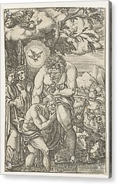 Baptism Of Christ In The Jordan, Monogrammist Ac 16e Eeuw Acrylic Print by Litz Collection