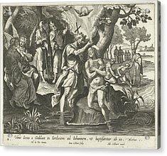 Baptism Of Christ, Jan Collaert II, Adriaen Collaert Acrylic Print by Jan Collaert (ii) And Adriaen Collaert