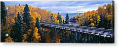 Baptism River Into Lake Superior Acrylic Print by Panoramic Images