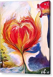 Baptize Me With Holy Fire Acrylic Print