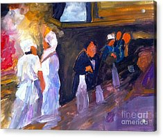 Bar And Grille Acrylic Print by Sandra Stone