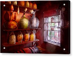 Bar - Bottles - Check Out These Big Jugs  Acrylic Print by Mike Savad