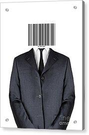 Bar Code Man Acrylic Print by Shawn Hempel