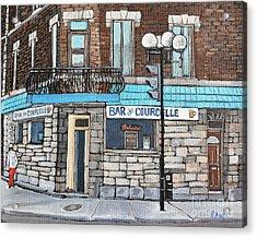 Bar De Courcelle St-henri Acrylic Print by Reb Frost