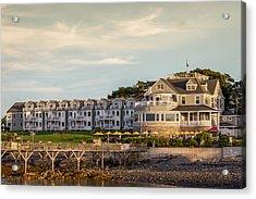 Acrylic Print featuring the photograph Bar Harbor Inn  by Trace Kittrell