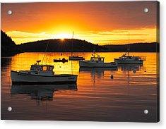 Acrylic Print featuring the photograph Bar Harbor Sunrise by Bernard Chen