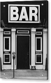 Acrylic Print featuring the photograph Bar by Rodney Lee Williams