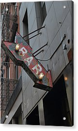 Bar Sign Acrylic Print by Matt Radcliffe