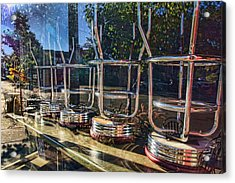 Bar Stools Up Acrylic Print by Daniel Sheldon