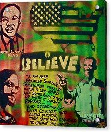 Barack And Martin And Malcolm Acrylic Print