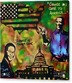 Barack And Sam Cooke Acrylic Print by Tony B Conscious