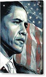Barack Obama Artwork 2 B Acrylic Print by Sheraz A