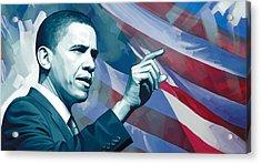 Barack Obama Artwork 2 Acrylic Print