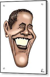 Barack Obama Acrylic Print by Bill Proctor