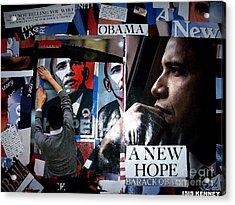 Barack Obama Acrylic Print by Isis Kenney
