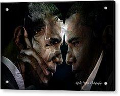 Barack Obama -  Acrylic Print by Lynda Payton