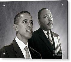 Acrylic Print featuring the photograph Barack Obama  M L King  by Martin Konopacki Restoration