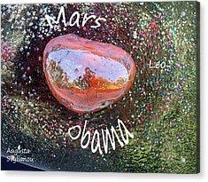 Barack Obama Mars Acrylic Print