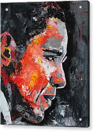 Barack Obama Acrylic Print by Richard Day