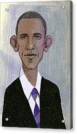 Barack Obama Acrylic Print by Steve Dininno