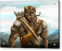 Acrylic Print featuring the painting Baragh The Hoargg Warrior by Reynold Jay