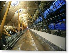 Barajas International Airport, Madrid Acrylic Print by Hisham Ibrahim
