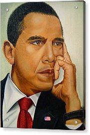 Barak H. Obama Acrylic Print by Yechiel Abramov