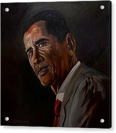 Barak Obama Acrylic Print by Paul Whitehead