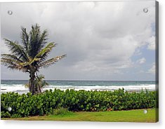 Barbados And The Ocean Acrylic Print by Willie Harper
