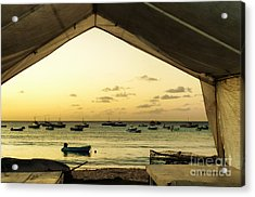 Acrylic Print featuring the photograph Barbados Fishing Boats In Oistens by Polly Peacock
