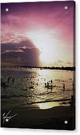 Barbados Sunset Acrylic Print by Max CALLENDER