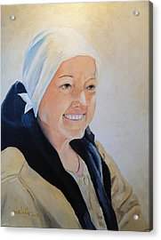 Acrylic Print featuring the painting Barbara by Alan Lakin