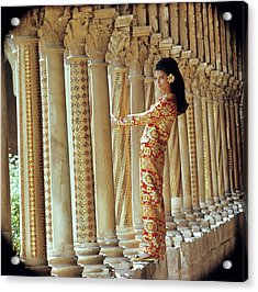 Barbara Bach In Monreale Acrylic Print by Henry Clarke